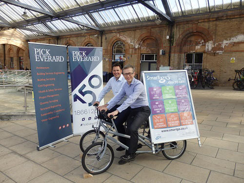 (L-R) Alastair Hamilton, Partner at Pick Everard and Robin Pointon, Managing Director of Go Travel Solutions